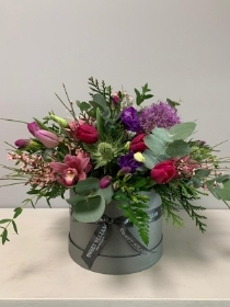 Florist Choice Hat Box Arrangement