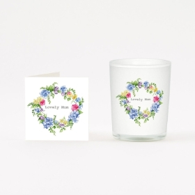 Lovely Mum Candle & Boxed Card