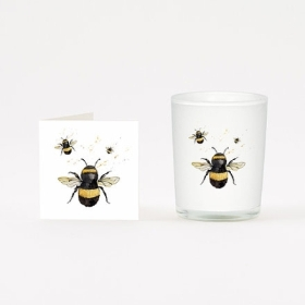 Bumble Bee Candle and Boxed Card