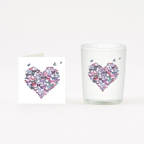 Butterfly Heart Candle and Boxed Card